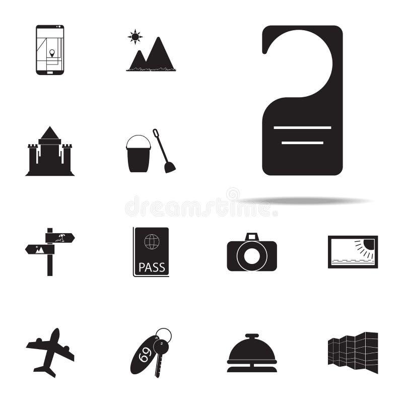 icono de la muestra de la puerta del hotel sistema universal de los iconos del placer del verano para la web y el móvil ilustración del vector