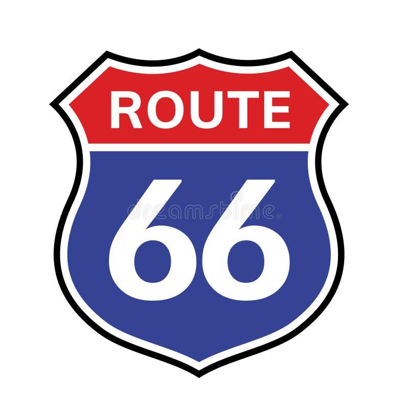 icono de la muestra de 66 rutas Autopista sin peaje americana de un estado a otro de la carretera del camino 66 del vector nosotr libre illustration