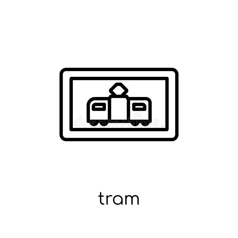 Icono de la muestra de la tranvía Icono linear plano moderno de moda de la muestra de la tranvía del vector ilustración del vector