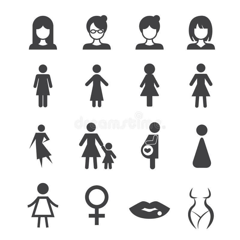 Icono de la mujer ilustración del vector