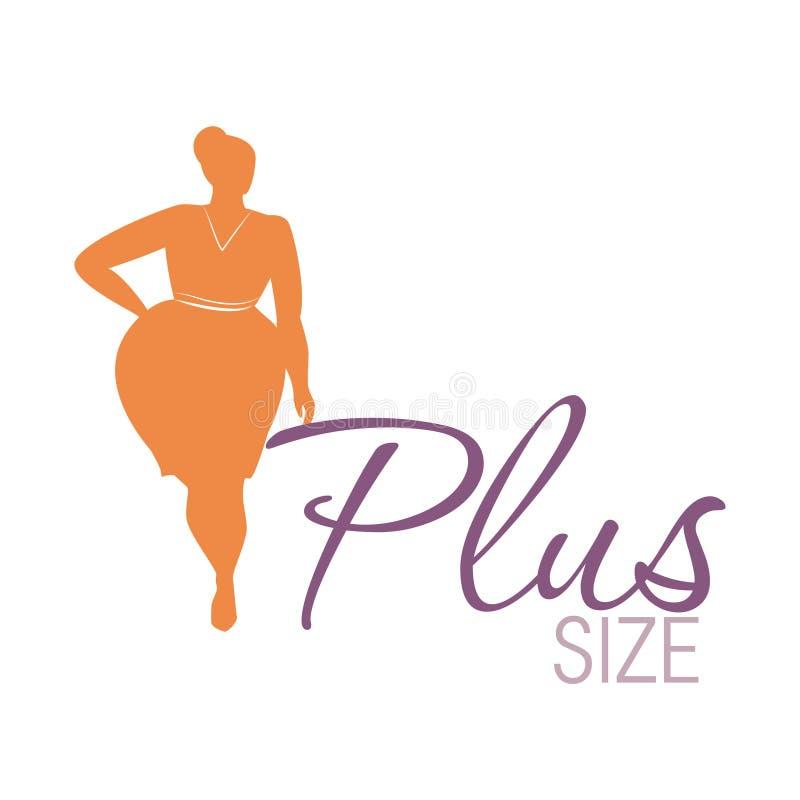 Icono de la mujer del tamaño extra grande ilustración del vector