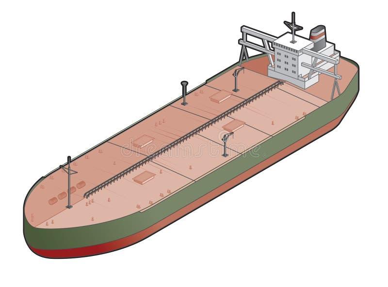 Icono de la nave de petrolero. Elementos 41b del diseño stock de ilustración