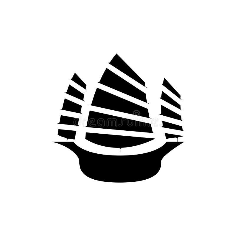 Icono de la nave de Hong Kong, ejemplo del vector libre illustration
