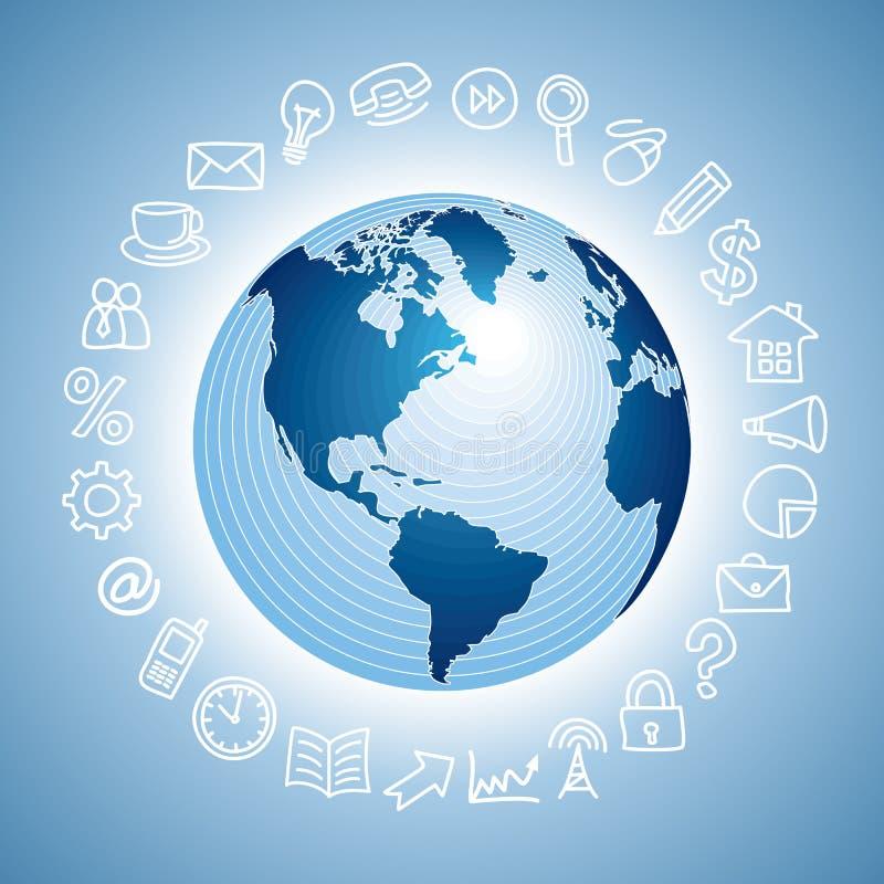 Icono de la navegación con el globo ilustración del vector