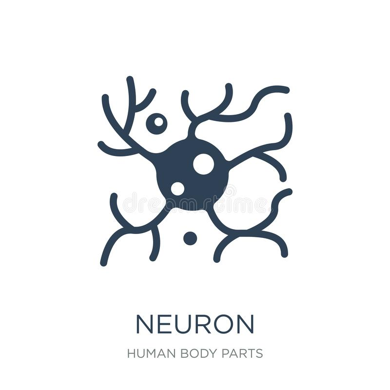 icono de la neurona en estilo de moda del diseño Icono de la neurona aislado en el fondo blanco símbolo plano simple y moderno de stock de ilustración