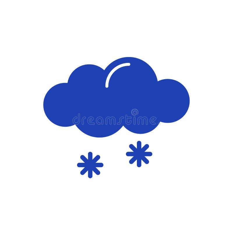 Icono de la nieve aislado en el fondo blanco stock de ilustración