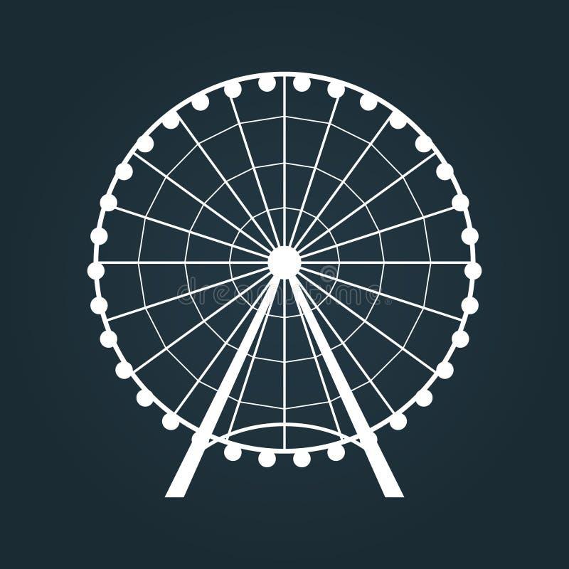 Icono de la noria stock de ilustración