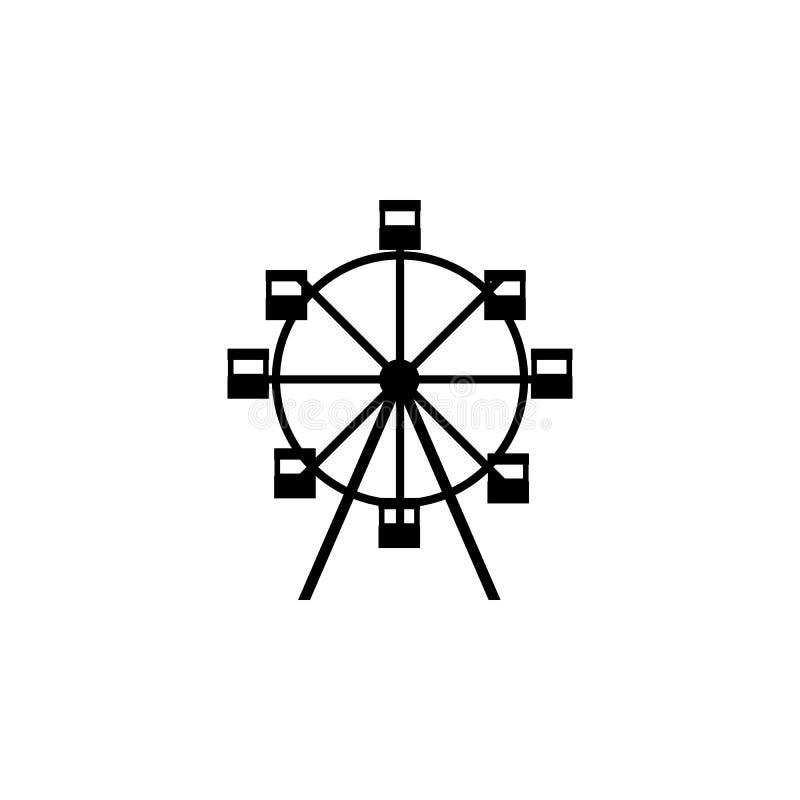Icono de la noria Apps del concepto y del web del parque de atracciones de los elementos Icono para el diseño y el desarrollo, de libre illustration