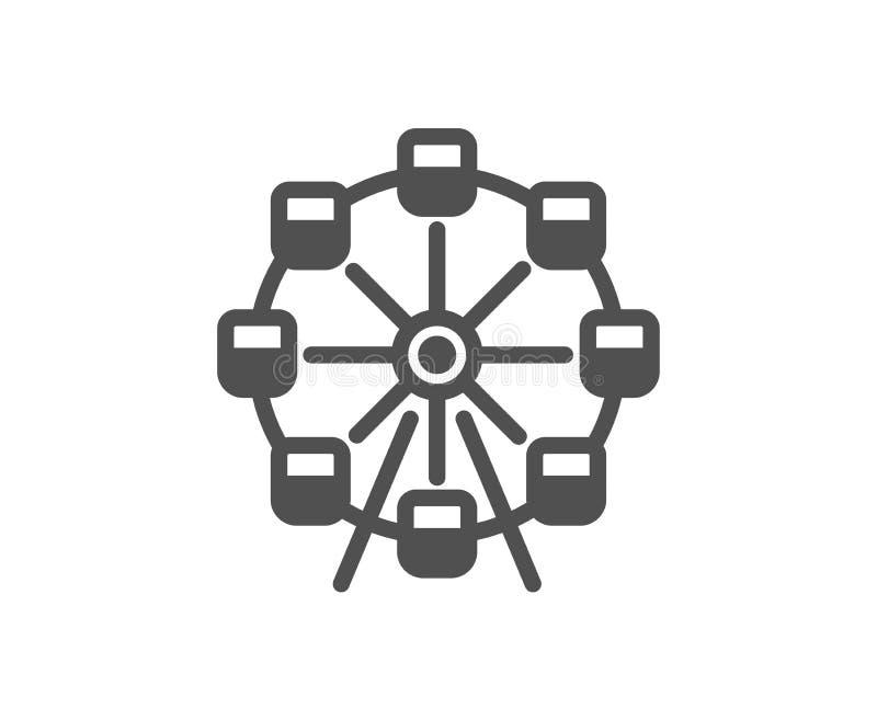 Icono de la noria Muestra del parque de atracciones Vector libre illustration