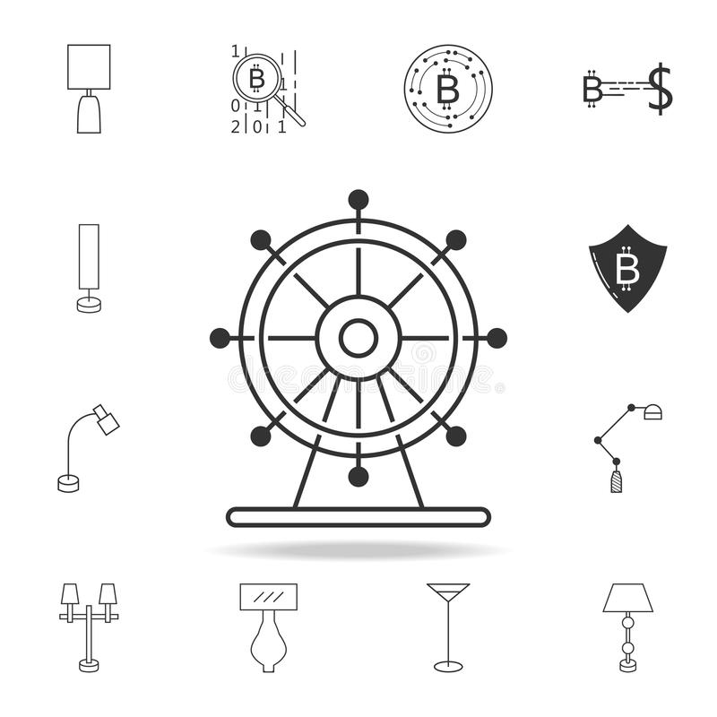Icono de la noria Sistema detallado de iconos y de muestras del web Diseño gráfico superior Uno de los iconos de la colección par ilustración del vector