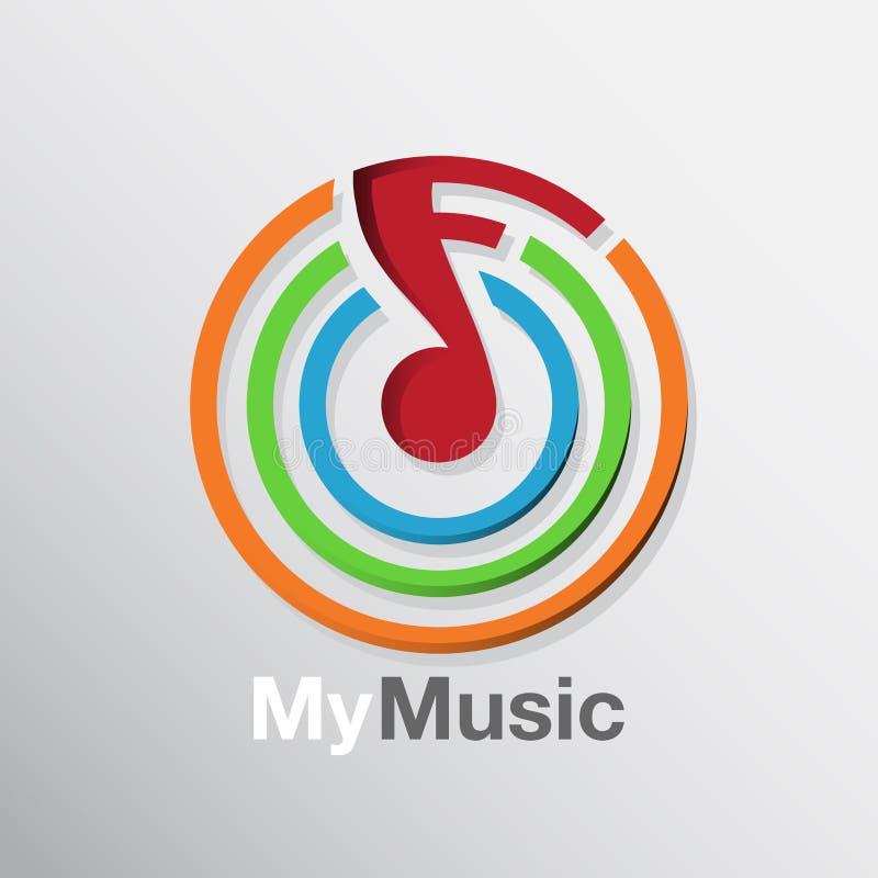 Icono de la nota de la música ilustración del vector