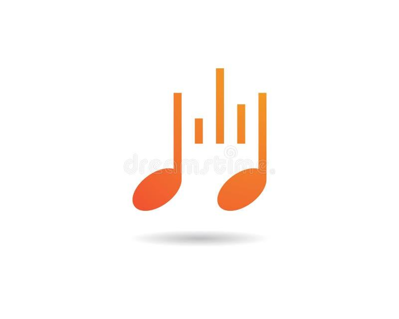 Icono de la nota de la música stock de ilustración