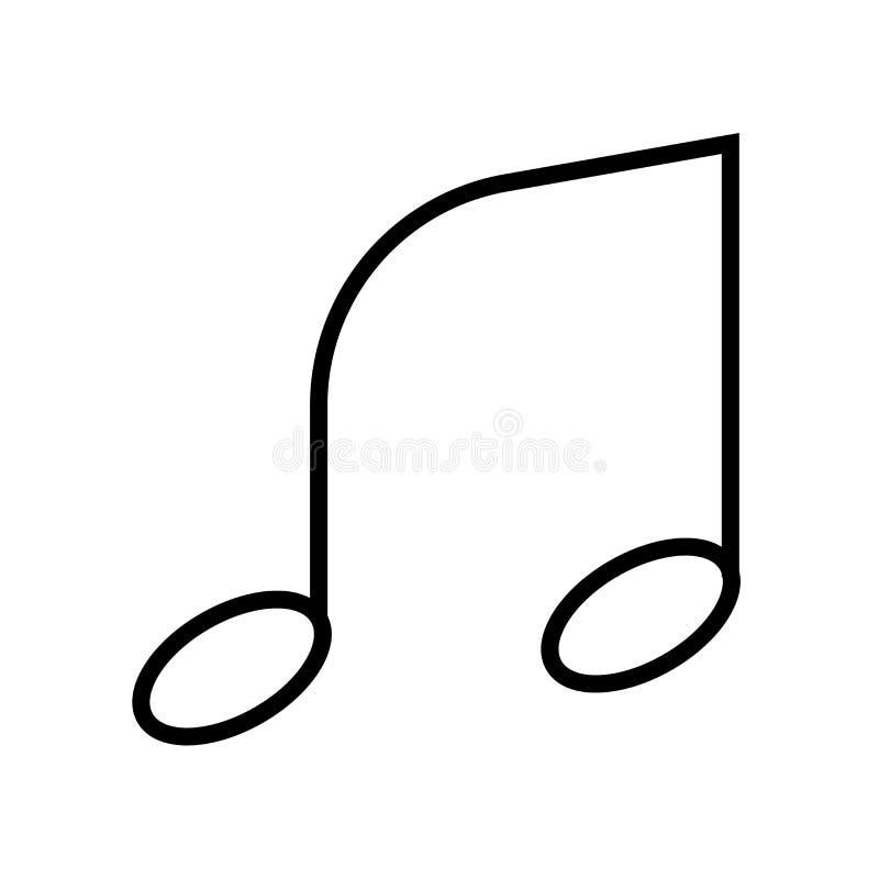 Icono de la nota musical aislado en el fondo blanco imagen de archivo
