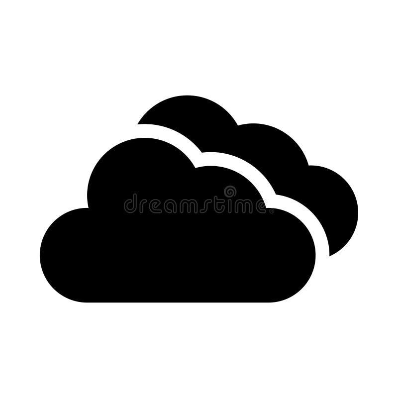 Icono de la nube stock de ilustración