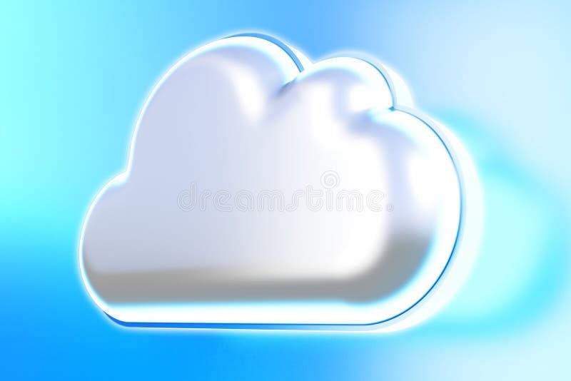 Icono de la nube ilustración del vector