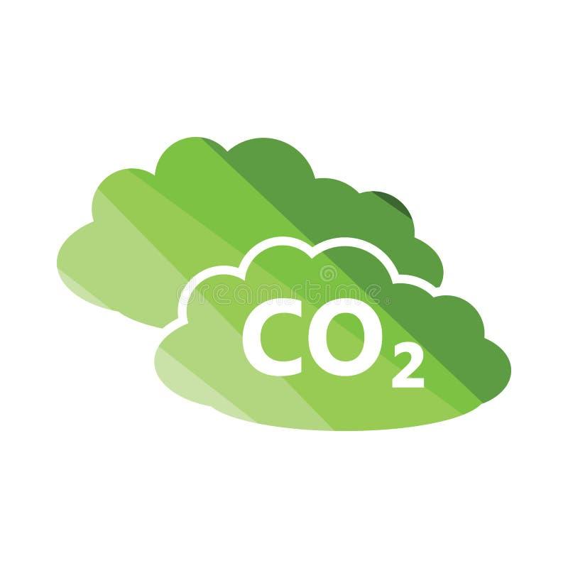 Icono de la nube del CO2 ilustración del vector
