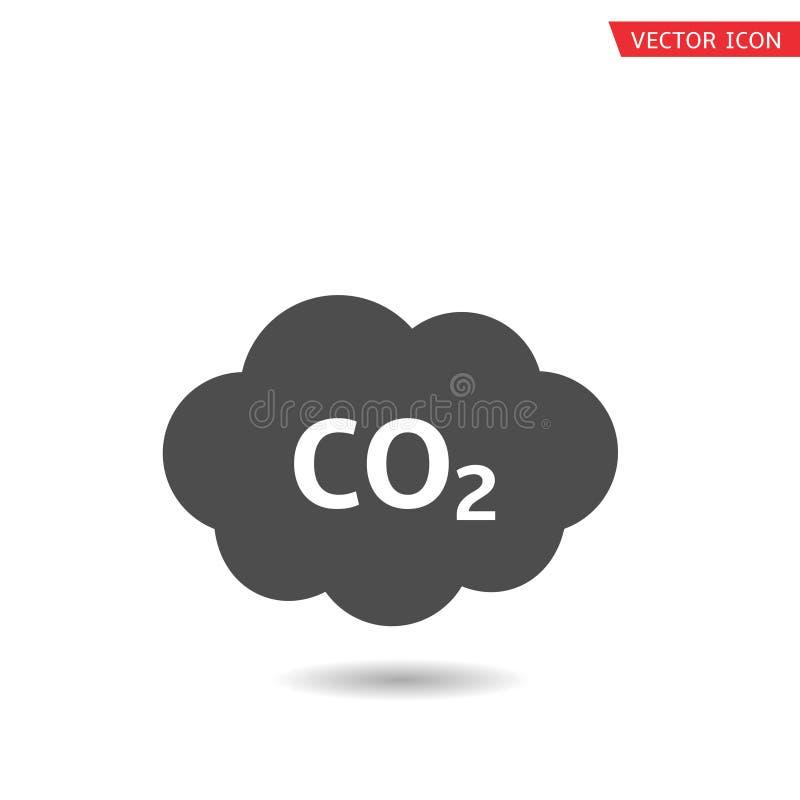 Icono de la nube del CO2 stock de ilustración