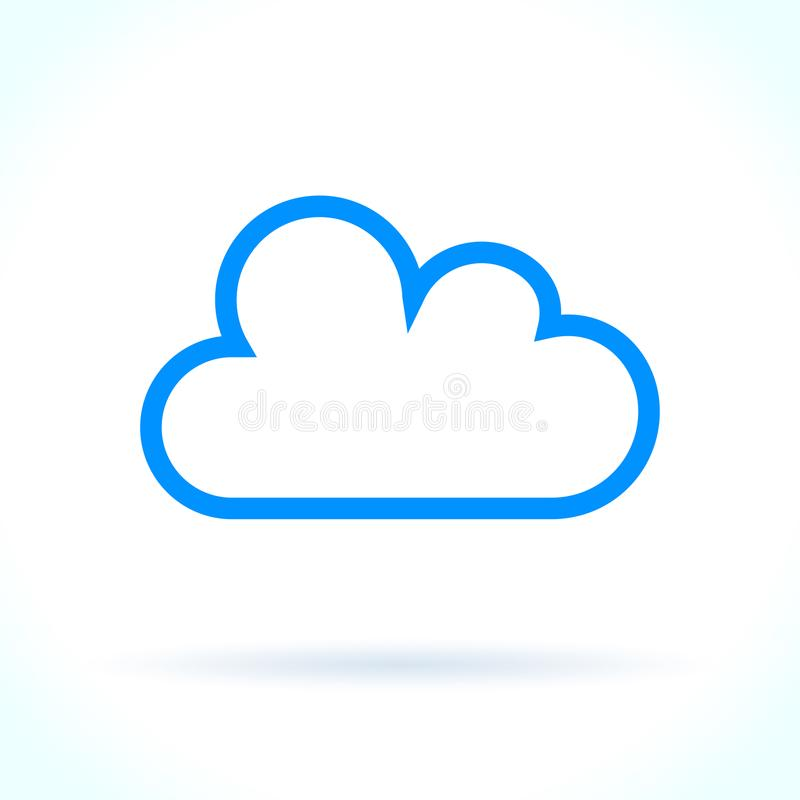Icono de la nube en el fondo blanco libre illustration