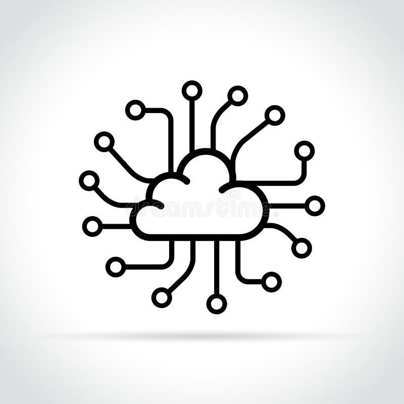 Icono de la nube de los datos en el fondo blanco libre illustration