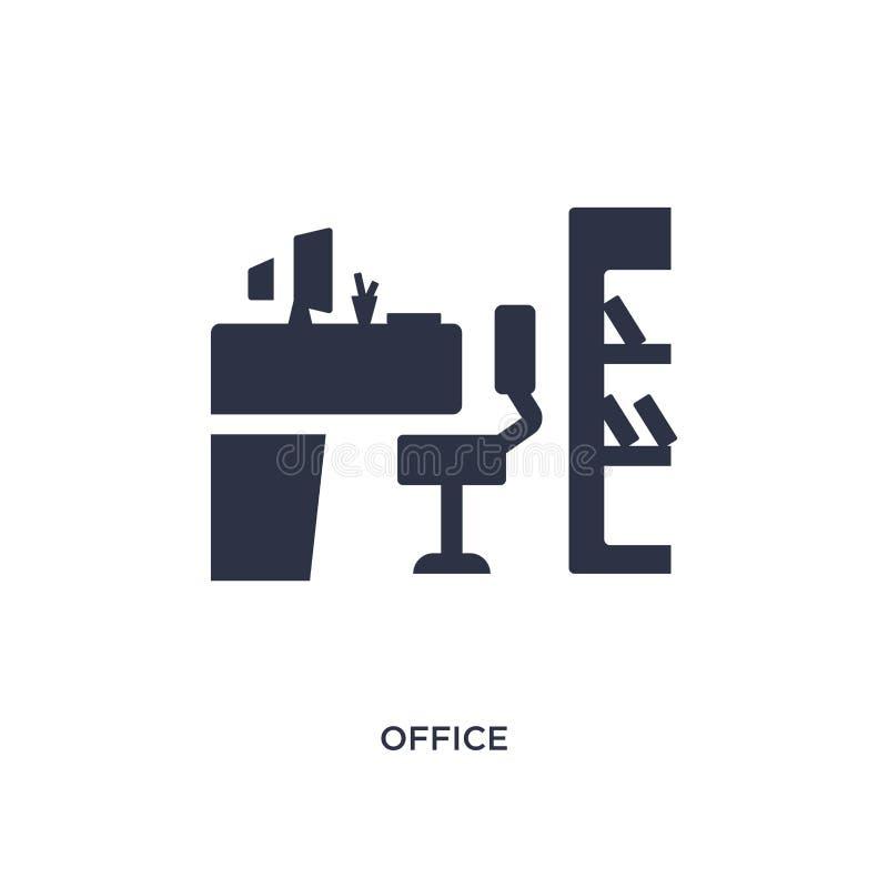 icono de la oficina en el fondo blanco Ejemplo simple del elemento del concepto del curriculum vitae del trabajo ilustración del vector