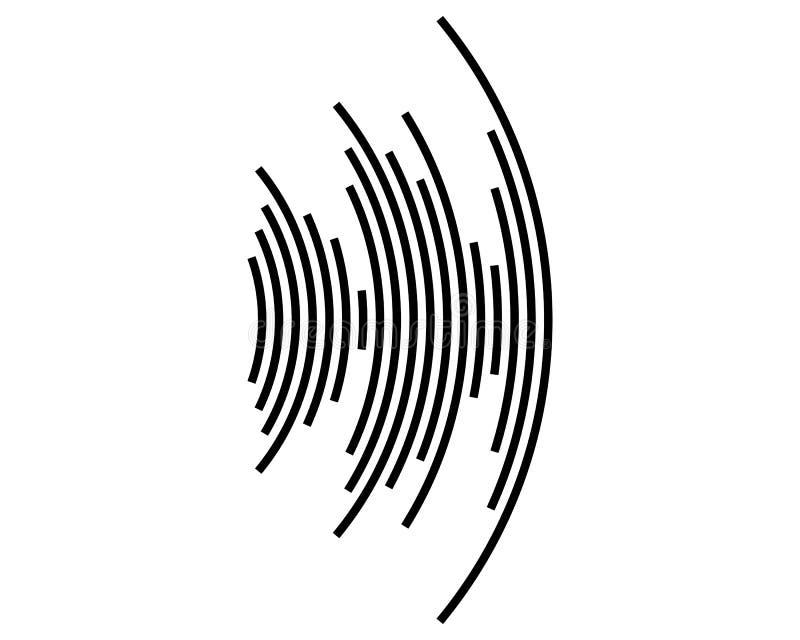 Icono de la onda acústica ilustración del vector