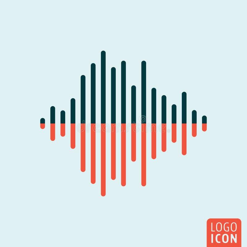 Icono de la onda acústica aislado stock de ilustración