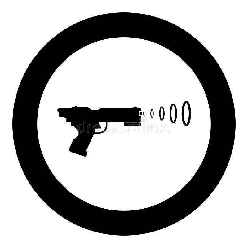 Icono de la onda del arenador del tiroteo del arma del espacio del arma de Toy Futuristic de los niños del arenador del espacio  ilustración del vector