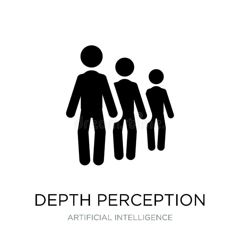 icono de la opinión de profundidad en estilo de moda del diseño icono de la opinión de profundidad aislado en el fondo blanco ico ilustración del vector