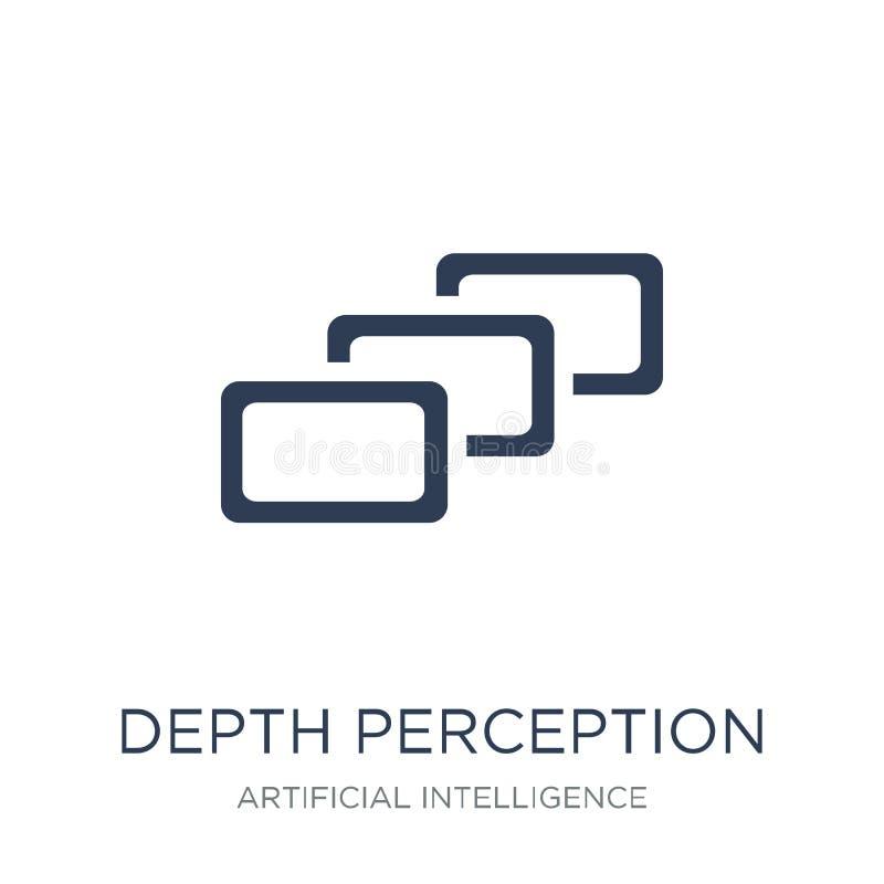 Icono de la opinión de profundidad Icono plano de moda de la opinión de profundidad del vector libre illustration