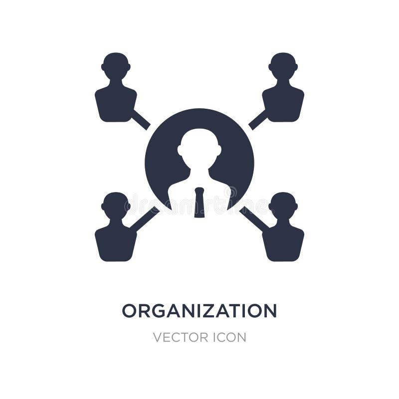 Icono de la organización en el fondo blanco Ejemplo simple del elemento del concepto de la economía de Digitaces libre illustration