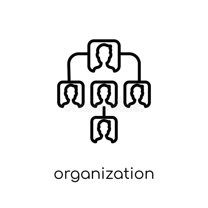 Icono de la organización Organización linear plana moderna de moda del vector libre illustration