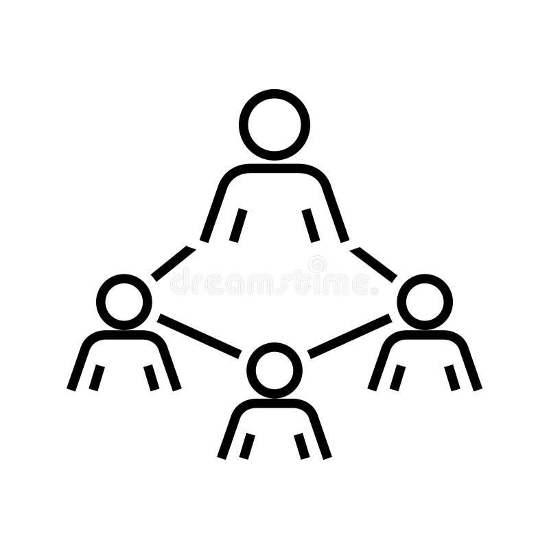 Icono de la organización de la mano de obra, ejemplo del vector libre illustration