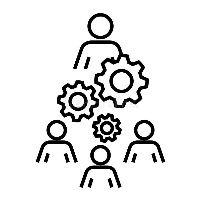 Icono de la organización de la mano de obra, ejemplo del vector ilustración del vector