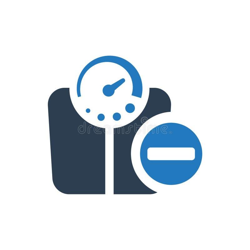 Icono de la pérdida de peso ilustración del vector