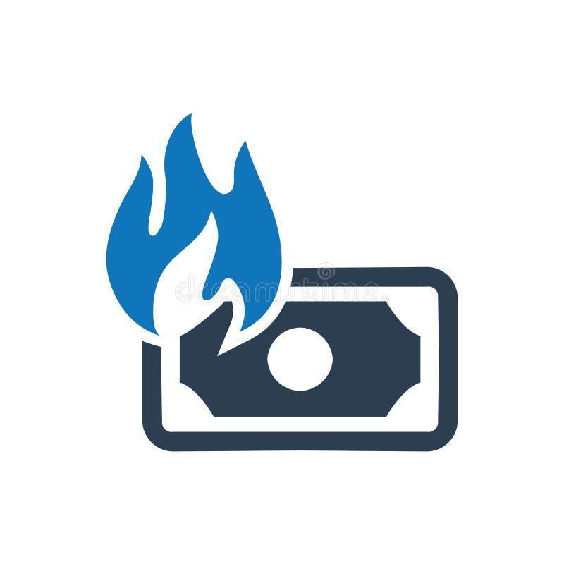 Icono de la pérdida financiera ilustración del vector