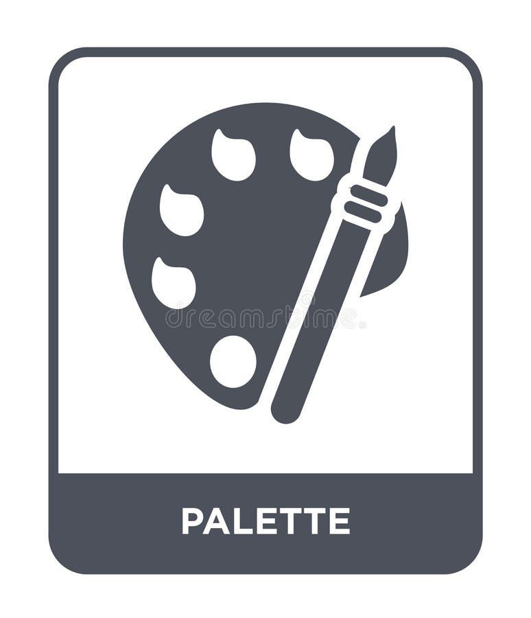 icono de la paleta en estilo de moda del diseño icono de la paleta aislado en el fondo blanco símbolo plano simple y moderno del  libre illustration