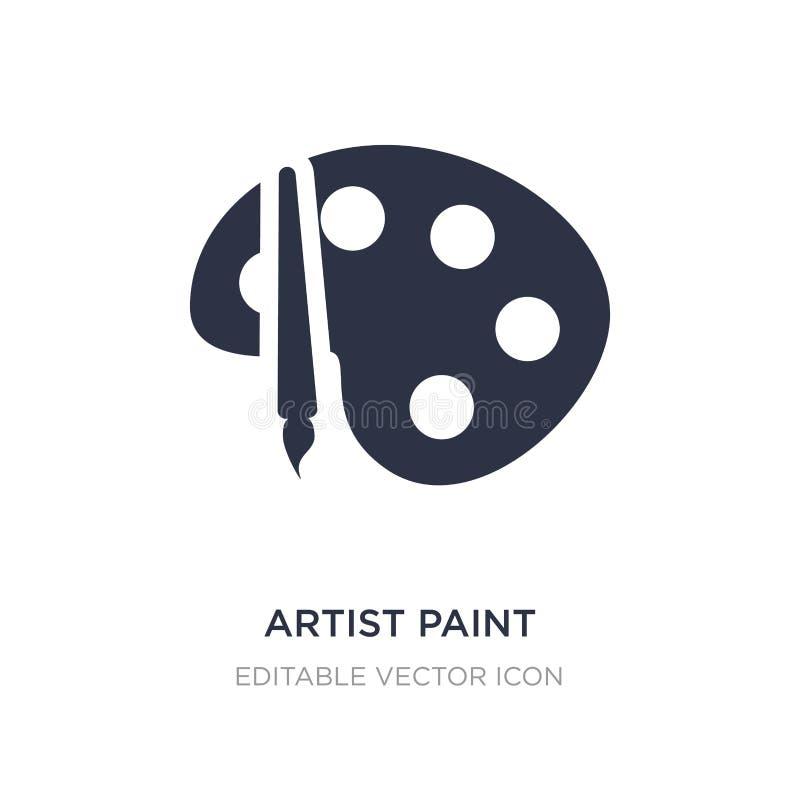 icono de la paleta de la pintura del artista en el fondo blanco Ejemplo simple del elemento del concepto de UI stock de ilustración