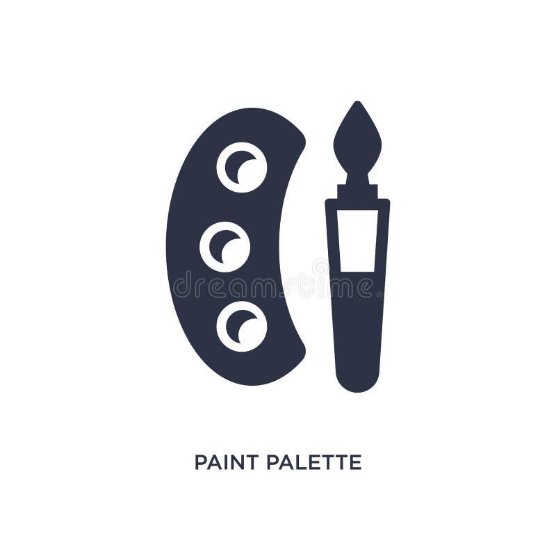 icono de la paleta de la pintura en el fondo blanco Ejemplo simple del elemento del concepto de la educación 2 libre illustration