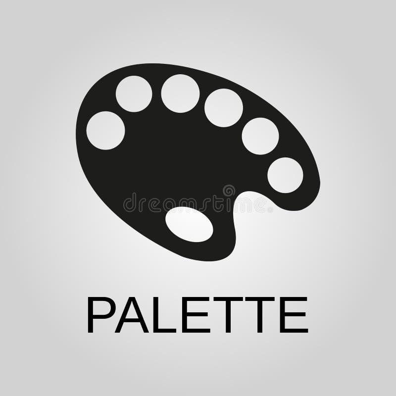 Icono de la paleta Símbolo de la paleta Diseño plano Acción - ejemplo del vector libre illustration
