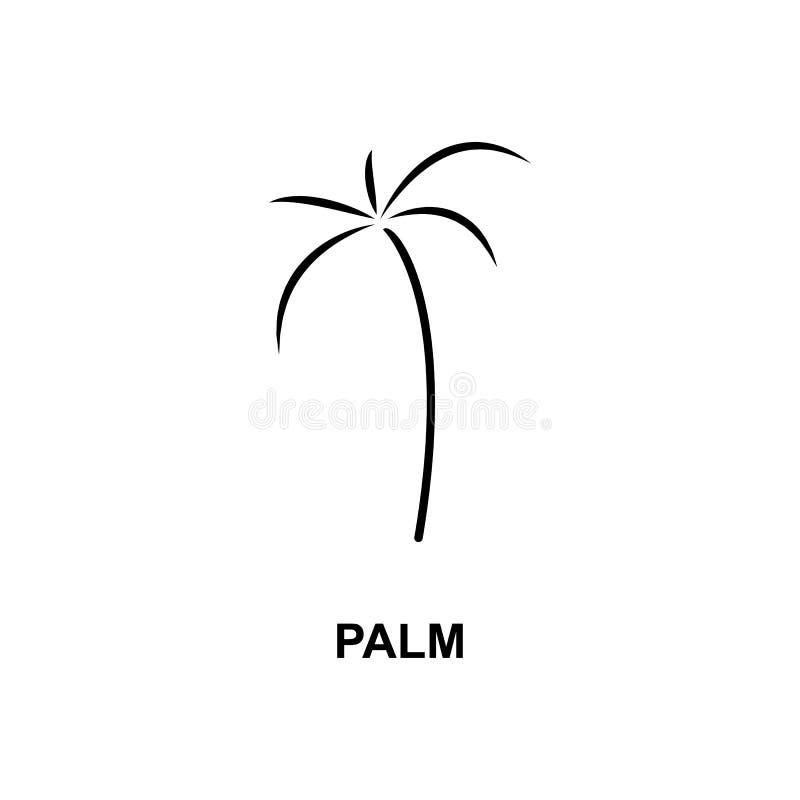 Icono De La Palma Elemento De Icono Web Simple Con Nombre Para Concepto Móvil Y Aplicaciones Web Icono De Palma Fina Se Puede Uti Stock De Ilustración Ilustración De Turismo Exterior