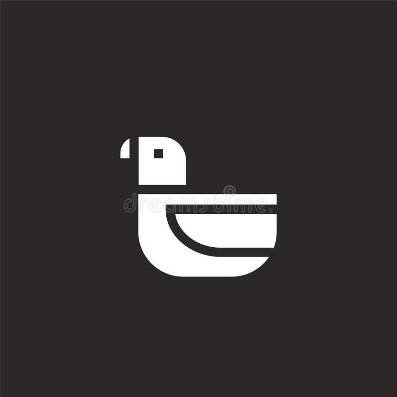 Icono de la paloma Icono llenado de la paloma para el diseño y el móvil, desarrollo de la página web del app el icono de la palom ilustración del vector
