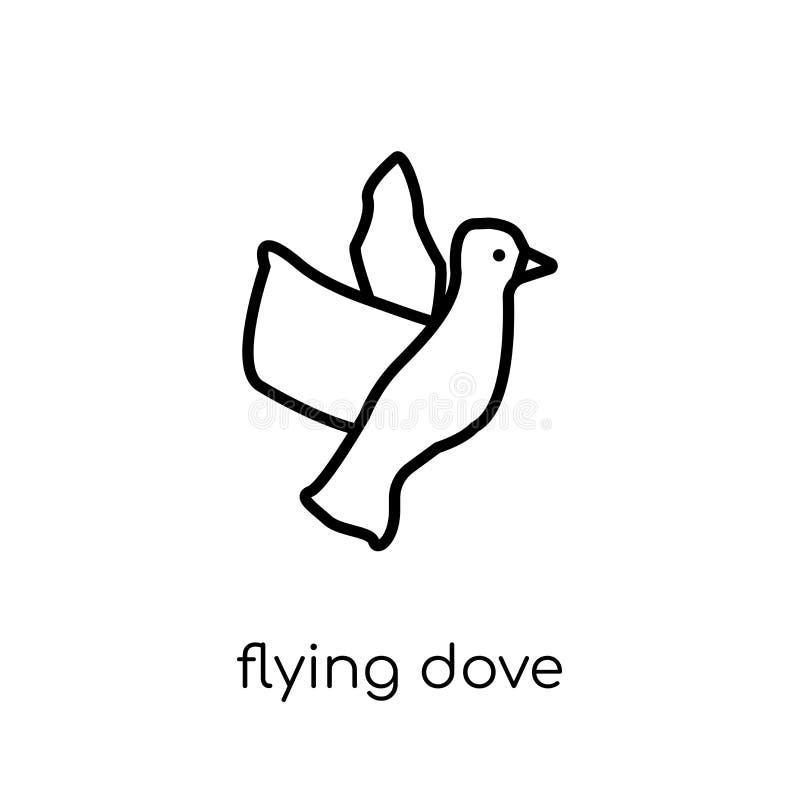 Icono de la paloma que vuela  ilustración del vector
