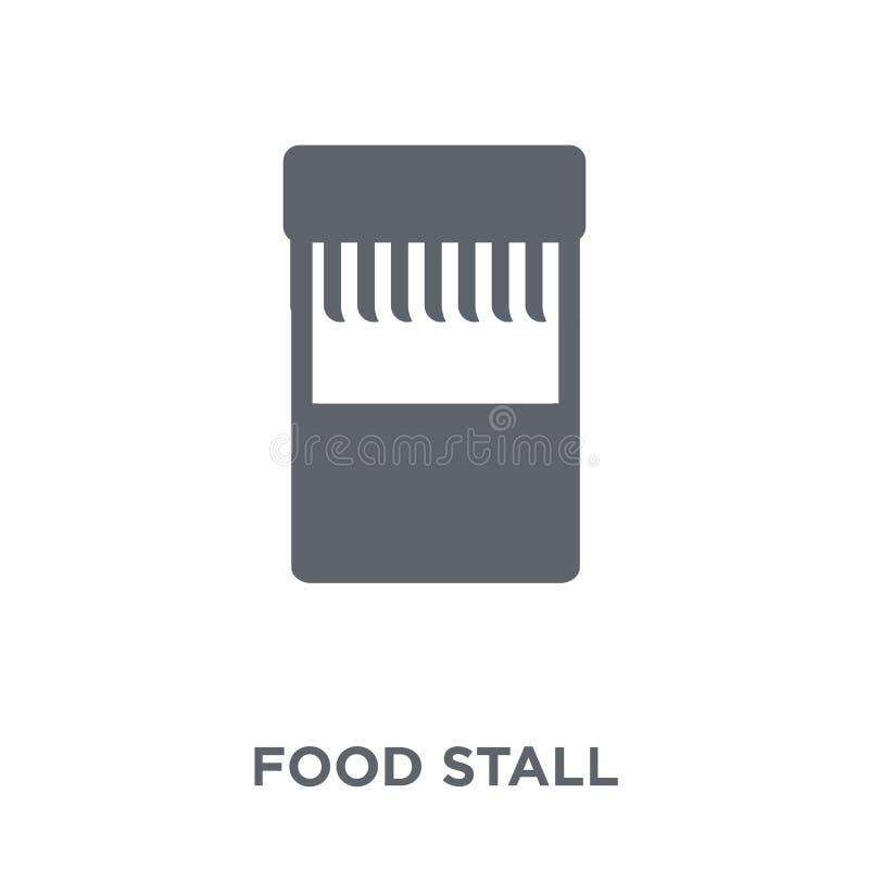 Icono de la parada de la comida de la colección de Australia stock de ilustración