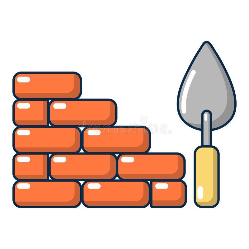 Icono de la pared de ladrillo, estilo de la historieta libre illustration