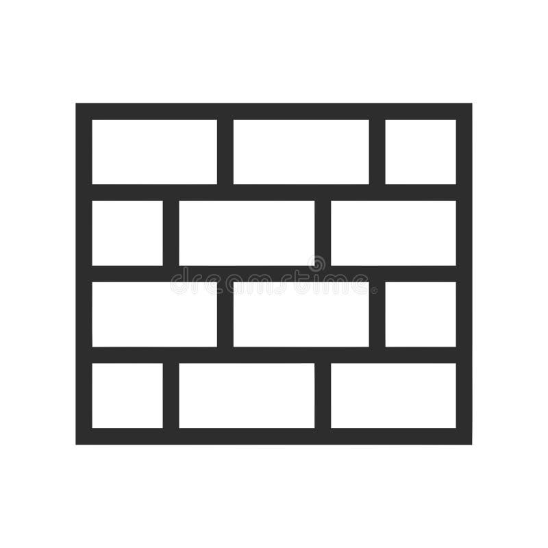 Icono de la pared Símbolo del cortafuego Muestra de la seguridad libre illustration