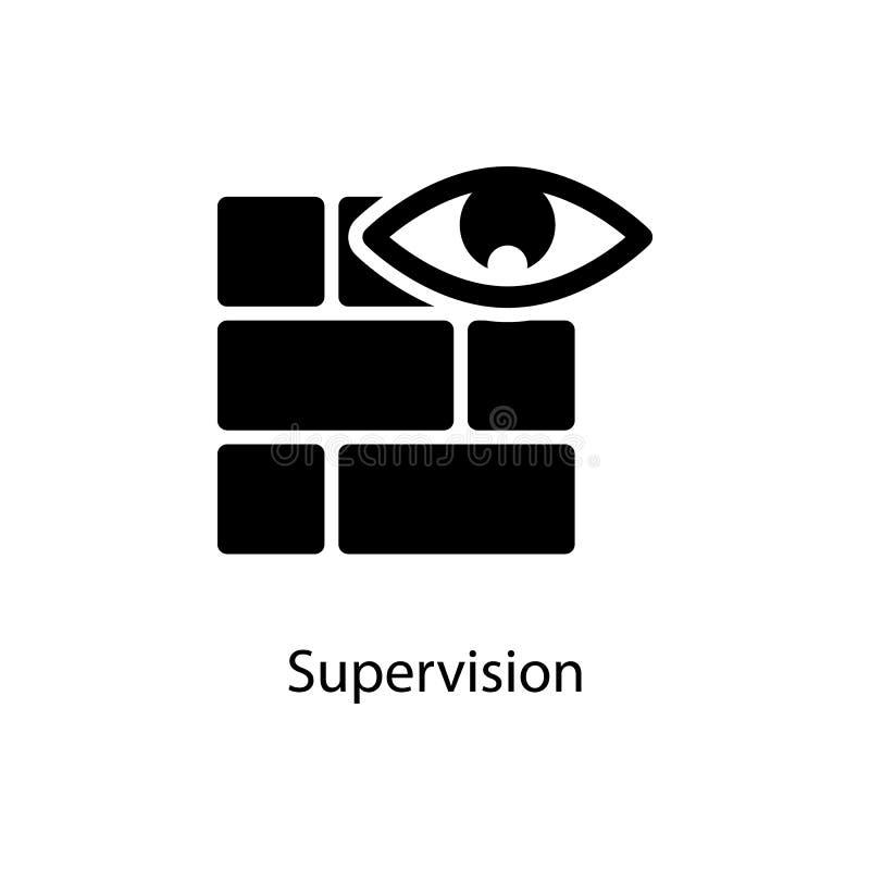 icono de la pared y del ojo Elemento del icono minimalistic para los apps móviles del concepto y del web Muestras e icono para lo libre illustration