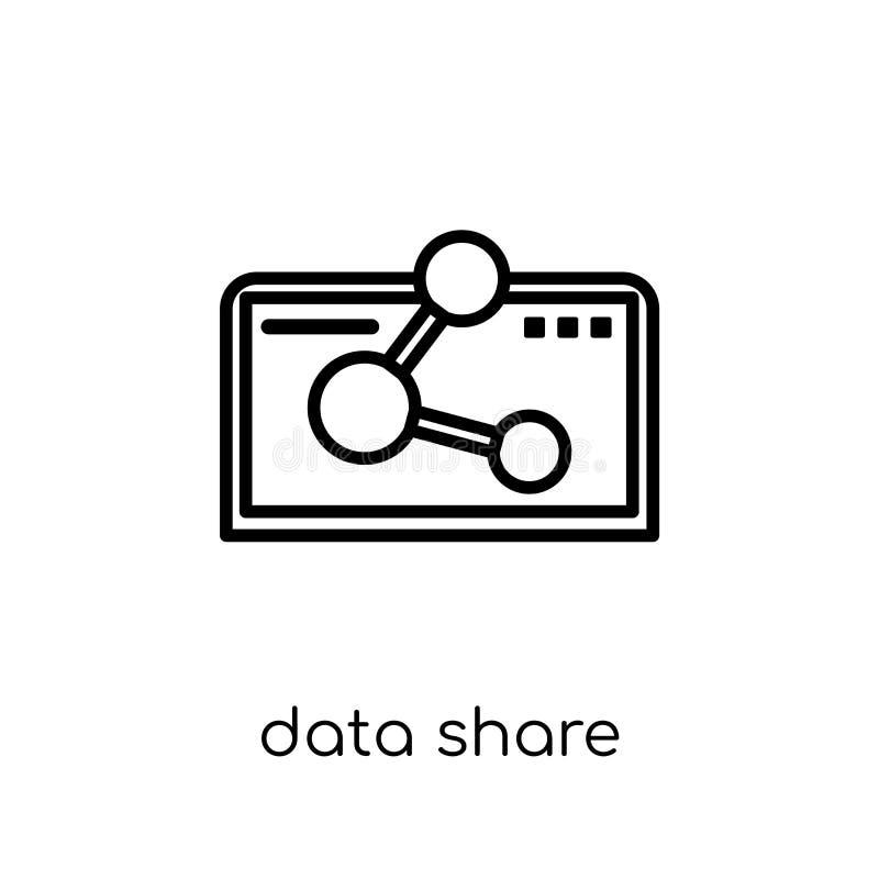 Icono de la parte de los datos Ico linear plano moderno de moda de la parte de los datos del vector ilustración del vector