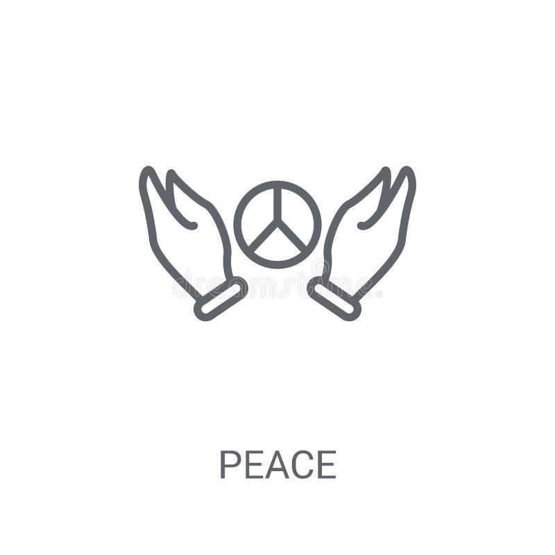 Icono de la paz Concepto de moda del logotipo de la paz en el fondo blanco de P stock de ilustración