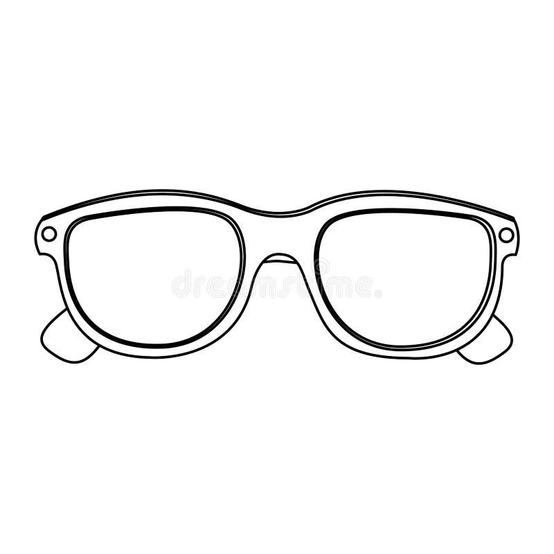 icono de la película del cine de los vidrios 3d stock de ilustración