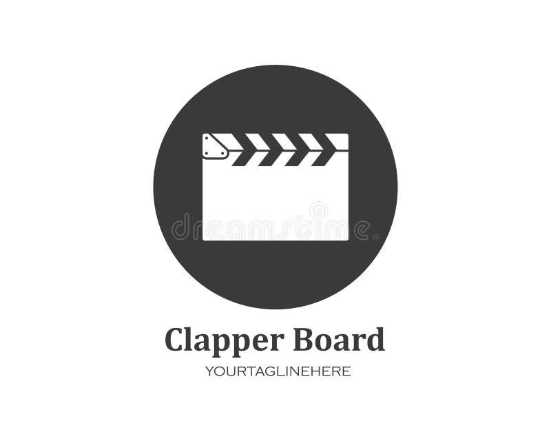 icono de la película del clapperboard del ejemplo del vector de la película de la industria y del festival de la película ilustración del vector